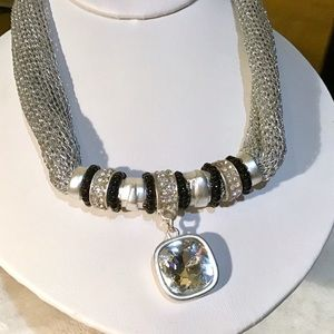Sparkly Silver Necklace